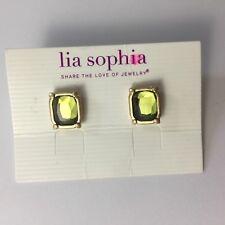 New Lia Sophia Green Stone Earrings