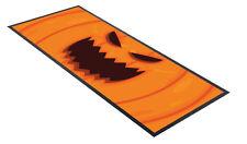 Halloween Bar Runner Multi Mat Orange Pumpkin Face Design Party Decoration Scary
