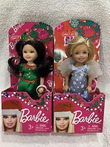 Lot Of 2 Mini Barbie 2012 Target Exclusive Chelsea Elf Angel Christmas Holiday