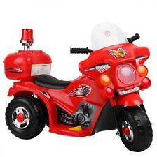 Kids Ride on Motorbike - Red Triple wheel Ride On Toys Manual foot step control
