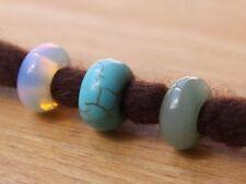 3 Gemstone Dreadlock Beads | Opalite | Aventurine | Ceramic 5mm Hole (3/16 Inch)