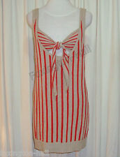 "BEAUTIFUL SASS&BIDE RED AND SAND STRIPED SINGLET DRESS ""HIGHSPEED"""