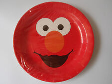 "ELMO 9"" BIRTHDAY PARTY PAPER PLATES  PK8 NEW!"