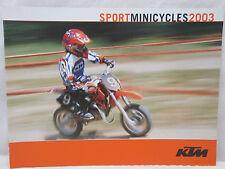 KTM Sport Mini Cycles 2003 Motorcycle Brochure Dirt Bike Motocross