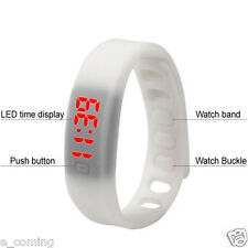 Sport Mens Watch Women Rubber LED Date Bracelet Digital Wrist Watch relojes