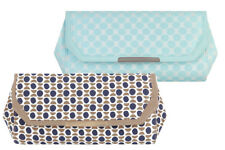 NEW Ruby Shoo Torino Clutch Bag Mint Aqua Spots / Stone Navy Geometric Edie