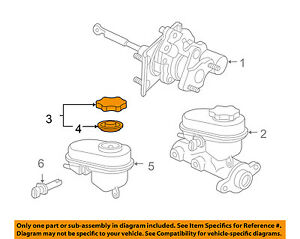 GM OEM-Reservoir Tank Bottle Cap 22688449