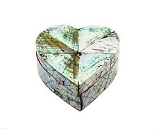 Heart Shaped Mother of Pearl Trinket/Jewellery Box, 10x11x4cm