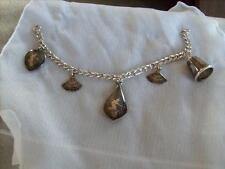 Vintage Siam Sterling Silver Five Charm Bracelet