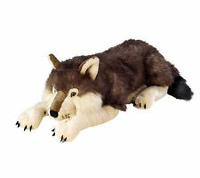 "Wolf Lying Jumbo Extra large plush toy 30""/76cm stuffed animal Wild Republic NEW"