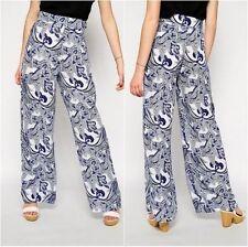 Pantaloni da donna blu taglia M