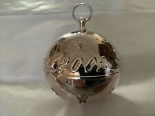 Wallace Silversmiths 2002 Annual Christmas Sleigh Bell - 32nd Limited Edition.