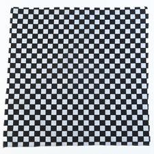 1pce Bandana 54x54cm Checkered Flag Black and White Large Formula 1