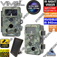 Trail Camera Solar Home Security Hunting Scout Farm Night Vision No Spy Hidden