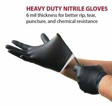 Venom Steel Heavy Duty Nitrile Black Glove 6mil Rip Resistance Latex Free 100 Ct