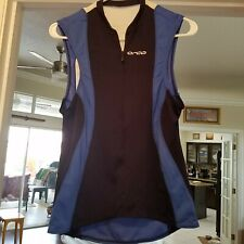 Orca Core Mens Triathlon Singlet Blue Tri-Top Cycling Running Swimming Tank LG