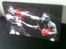 MIKE TYSON ICON IRON MIKE BOXING CANVAS Ready To Hang Wooden Frame Red Glove