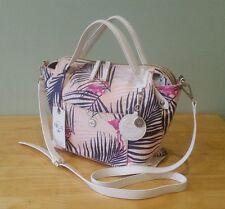 NICA Pink Flamingo Palm Print Grab, Shoulder Summer Handbag BNWT