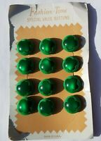 Vintage Set  GREEN SHAMROCK Buttons  St Patrick's Day Sewing Novelty