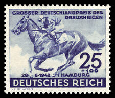 EBS Germany 1942 Blue Ribbon Horse Race - Blaues Band - Michel 814 MH*