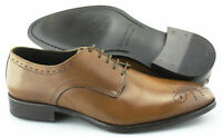 Men's TO BOOT NEW YORK 'Rutgers' Brown Leather Medallion Toe Oxfords US 10 - D