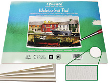 I CREATE A3 Watercolour Pad 15-Sheets 300 gsm 140lb Cold Pressed Textured (NOT)