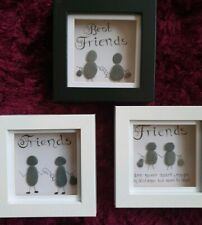 Friends Pebble Art Stone Frame Personalized. Great Christmas handmade gift