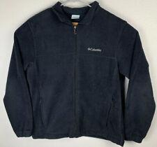 Columbia Full Zip Fleece Jacket Black Mens L Large