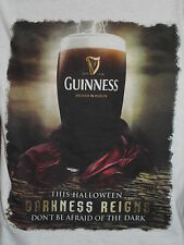 GUINNESS JRS.T SHIRT S THIS HALLOWEEN DARKNESS REIGNS DON'T BE AFRAID S S  NWOT