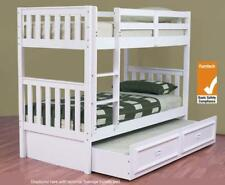Bunk bed Only King single SOLID white NEW KIDS