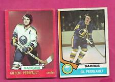 1973 AND 1974 OPC SABRES GILBERT PERREAULT   CARD (INV# C6477)