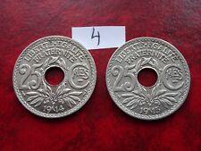 duo 25 centimes 1914 et 1915 (souligné) etat