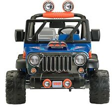 Blue Ride On Vehicle Jeep Kids Car Battery Powered 12-Volt Toddler Toy Wrangler