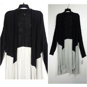 $99 INC International Concepts 1X black gray knit open plus size cardigan top