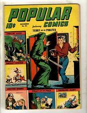 Popular Comics # 94 FN- Golden Age Dell Comic Book Dick Tracy Terry Annie NE4