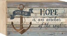 Hope is an Anchor of the Soul Hebrews 6:19 5x8 Wood Block-Style Wall Plaque