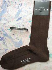 Falke Mens Wool Cashmere Socks Lhasa Ribbed Brown Size UK 5.5-8 EU 39-42 RRP £22
