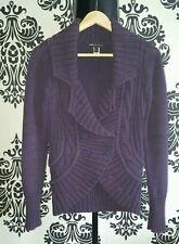 Damen Sweat Strickjacke Pullover Jackett Blazer Mango MNG Lila XS S 34 36 w.NEU