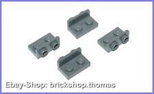 Lego 4 x  Halterung Platte Winkel grau - 99780 - Dark Bluish Gray - NEU / NEW