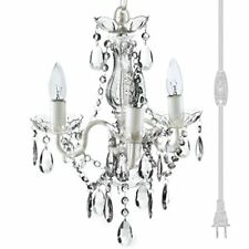 "The Original Gypsy Color 3 Light Mini Plug-in Crystal Chandelier for H16"" W13"""