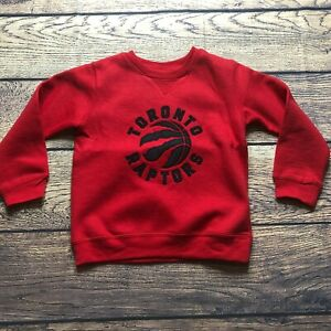 NBA Kids Boys Medium 5/6 Toronto Raptors Tek Warm Pullover Sweatshirt NEW