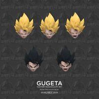 Demoniacal Fit Custom Headsculpt Set Yellow Hair+Black Hairfor SHF Gogeta Toy