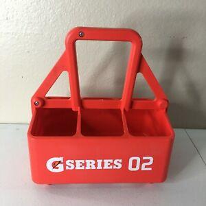 Gatorade G Series 02 Orange 6 Pack Sport Squeeze Water Bottle Carrier Holder