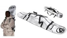 ANEX Snowboard Ski Travel Bag +Backpack Padded Straps Black white w/burton decal