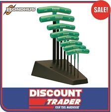 Bondhus T-Handle TORX Key Set 8 Piece with Stand - Made in USA - 33034