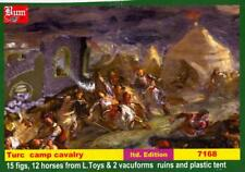 BUM Models 1/72 MEDIEVAL TURKISH CAVALRY CAMP Figure Set