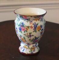 Vintage Erphila Czecho-Slovakia Warwick Pattern Chintz Floral Vase