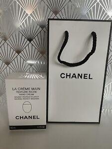 CHANEL La Crème Main Texture Riche Hand Cream - (50ml) BNIB With Gift Bag