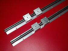 "SBR20-1524mm/60"" inch LINEAR SLIDE GUIDE 2 RAIL+4 SBR20UU Bearing Block CNC"