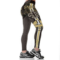 Hot 3D Orleans Saints Football Team Women Fitness Leggings Pants Sport Yoga Run